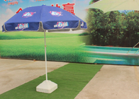 Silver Coated Outdoor Parasol Umbrella , Promotional Garden Umbrella With Digital Printing